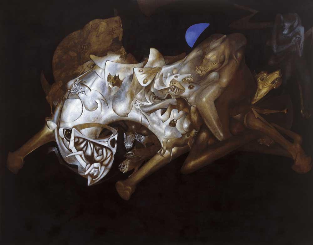 1981- Animal de medianoche – Óleo sobre tela