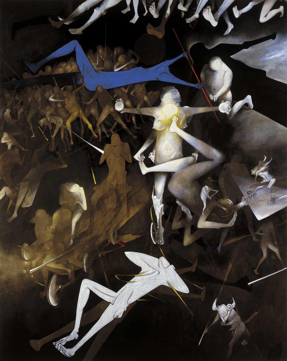 1987- Saudade – Serie Mitología del futuro – Óleo sobre tela
