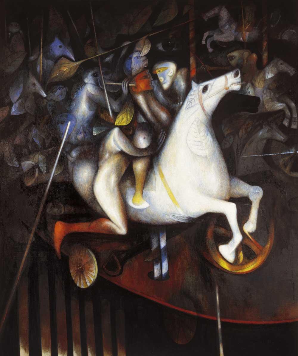 1994 – Caballito de otoño – Óleo sobre tela